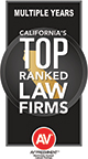 California's Top Ranked Law Firms Badge